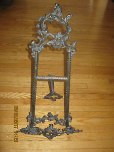 "Metallic (Hand Forged) Art Easel Stand 22"" tall"