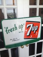 RARE ORIGINAL 7UP PORCELAIN SIGN