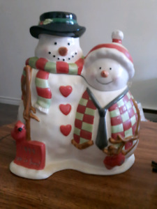 Snowman Christmas Cookie Jars