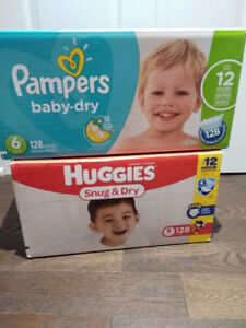 Size 6 unopened box of diapers