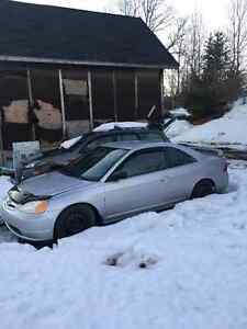 Parting out 2003 Honda Civic Coupe