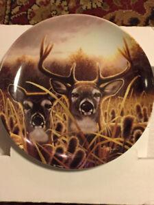 """Bradford Exchange Collector Plate """"Deer"""""""