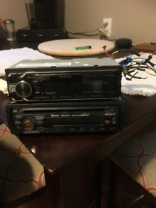 Two car stereo for sale