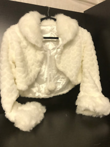 Faux Fur Bridal Jacket White * Brand New - Never Worn