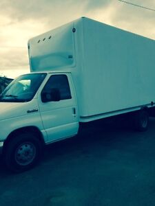 2007 Ford E-450 automatic diesel Cube Van ready to work.