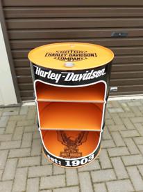 Harley davidson Oil drum drinks cabinet
