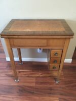 Antique Brother Built In Sewing Machine With Table
