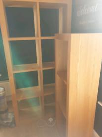 £200 if gone by end of June - Solid wooden oak cube shelving shelf storage unit