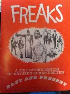 Freaks circus etc 1960s illustrated book photos etc collectibles