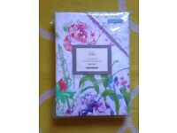 M&S floral double duvet cover and two pillowcases