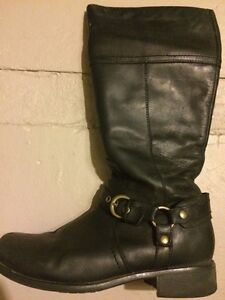 Women's Waterproof Black Boots by Hush Puppies - size 11