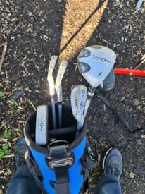 Junior golf set plus trolley