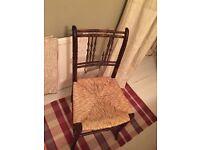 Rattan bottom chair