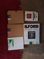 Photographic paper ilford and fujifilm and filters