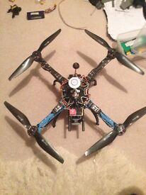 Custom built Carbon S500 quadcopter drone (multi rotor) Dji naza m lite gps