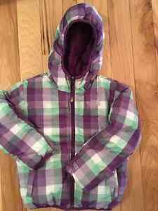 North face reversible moondoggy down jacket 550 fill size 6T