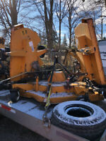 Trackless Tri Deck Mower attachment bat wing mower Barrie Ontario Preview