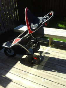 Instep Running Stoller in good condition big wheels easy turning