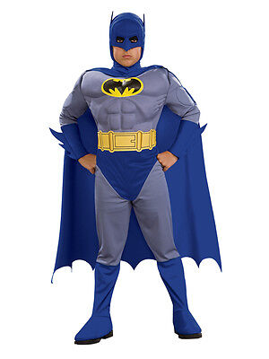 Child Batman Brave And The Bold Muscle Chest Fancy Dress Costume Kids Ages (Kid Batman Kostüme)