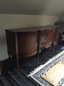 Antique Sideboard with Matching Dinning Room Table-Only $485.