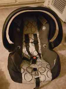 Carseat and maple leaf carseat cover seat set