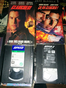 Speed 1 et 2 ( Clanches ) Keanu Reeves Sandra Bullock VHS VG