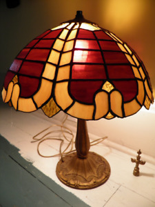 Old Leaded Glass Lamp