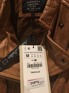 Zara leather jacket - Brand New with tags (veste cuir) West Island Greater Montréal image 6
