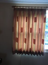 Two pairs of Curtains & one Roman Blind