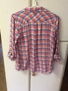 2 girls size 16 Justice button-down plaid shirts London Ontario image 2