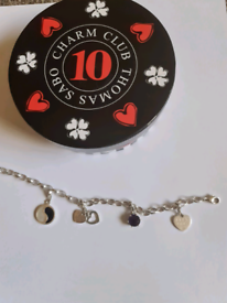 Thomas Sabo Charm Bracelet with 4 charms as on pic