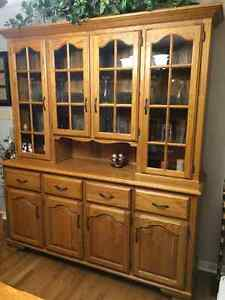 Solid Oak China Cabinet London Ontario image 1