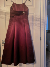 Burgundy bridesmaid /special occasion dress