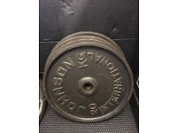 Olympic plates weights £1 a kilo