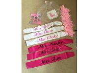Hen night party items sash feather boa