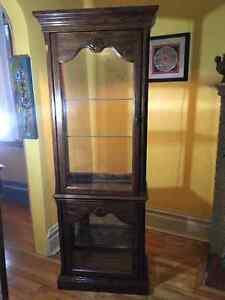 Oak Display Cabinet (blond solid oak) a Rare Find!
