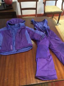 Girls Columbia Snow Suit Size xxs (4-5T) Toddler