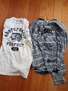 Abercrombie and Desigual designers boys long sleeve shirts