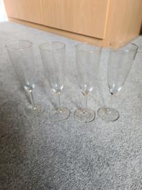 4 Ikea Svalka champagne Prosecco glasses