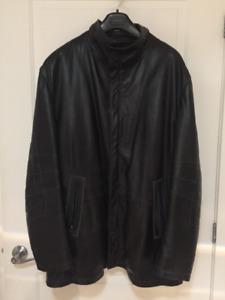 Manteau de cuir noir pour homme Aquascutum