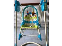 Fisher Price three in one swing-infant seat- toddler rocker