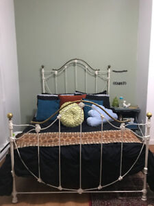 Antique Wrought Iron Bed (Double)