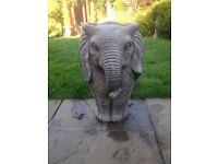 Large stone garden elephant planter. New
