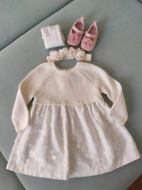 Baptism/Christening girl outfit dress 6-9 msc. + winter suit 6-9 msc.