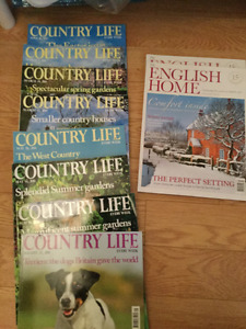 British Magazines Country Life, Homes & Antiques and more....