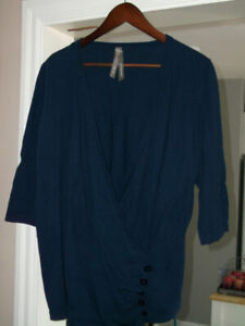 size 20 ladies crossover-front sweater