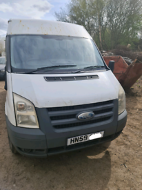 FORD TRANSIT 2.4 TDCI 115 T350L 6 SPEED IN WHITE 2009 **BREAKING** FOR