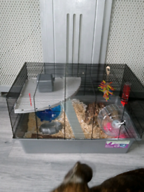 XL HAMSTER CAGE WITH ACCESSORIES pets at home