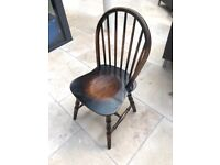 Solid oak chairs - set of 4