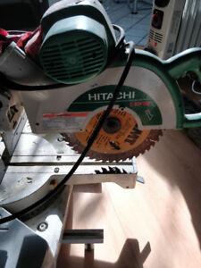 HITACHI MITER SAW + MASTERCRAFT 10' BENCH SAW + EXTENSION POLES